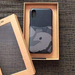 Coach Leather IPhone X/XS Phone Case